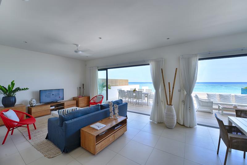 Salon, terrasse et vue