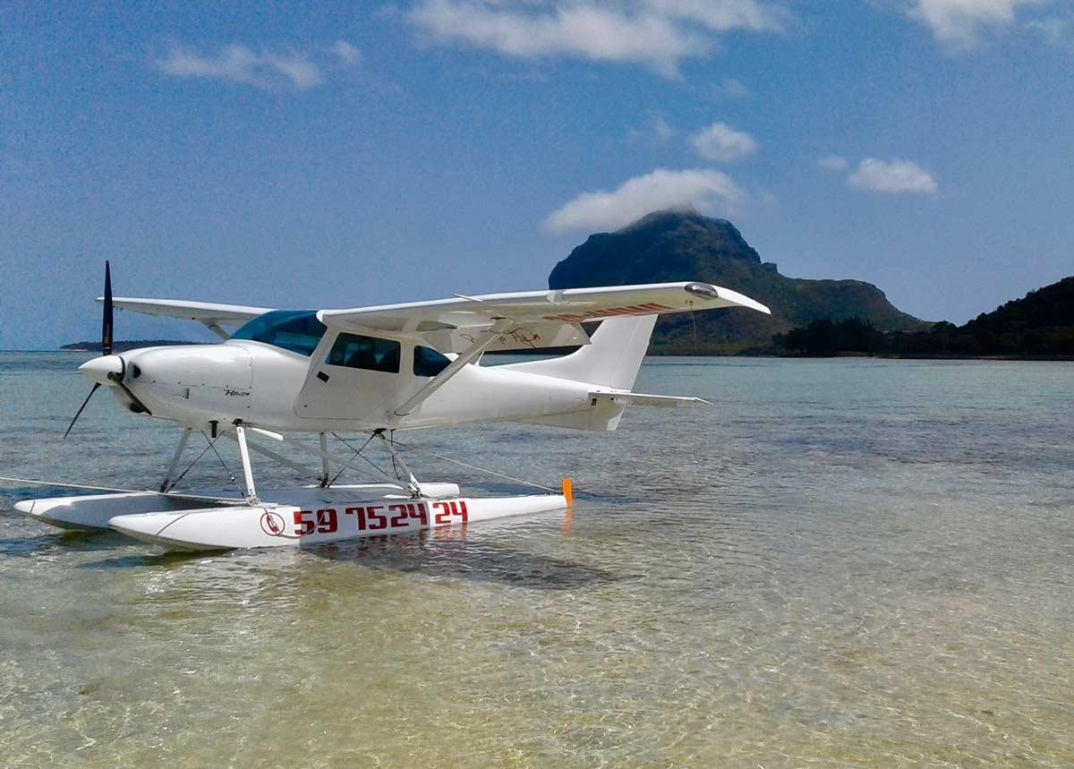 Vole en ULM au départ du Nord de l'île Maurice à Rivière du Rempart