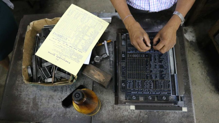vieux métiers - l'atelier d'imprimerie de port louis