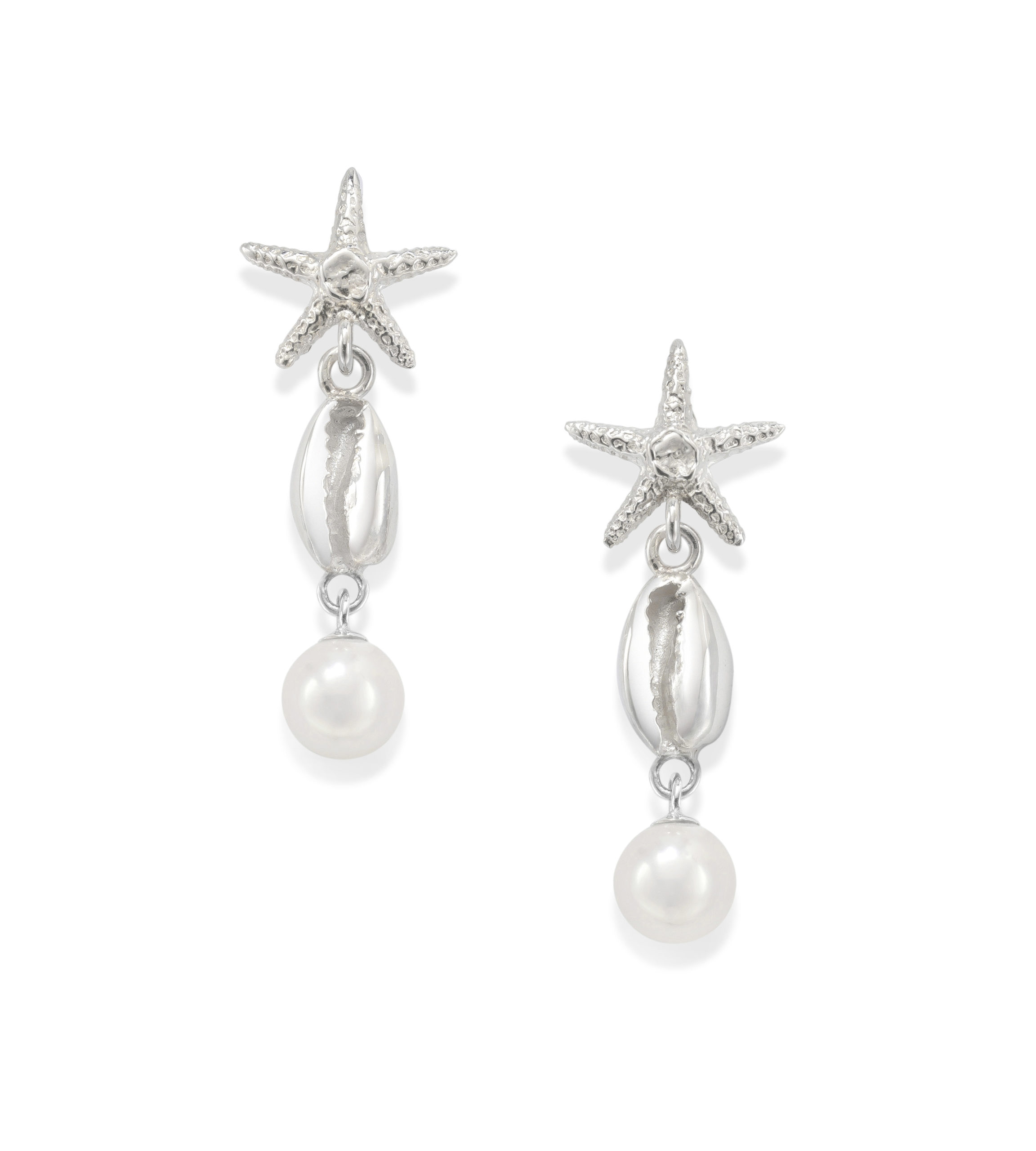 Starfish Petite Cowrie Drop Earrings